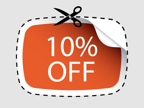 10 % discount for senoirs
